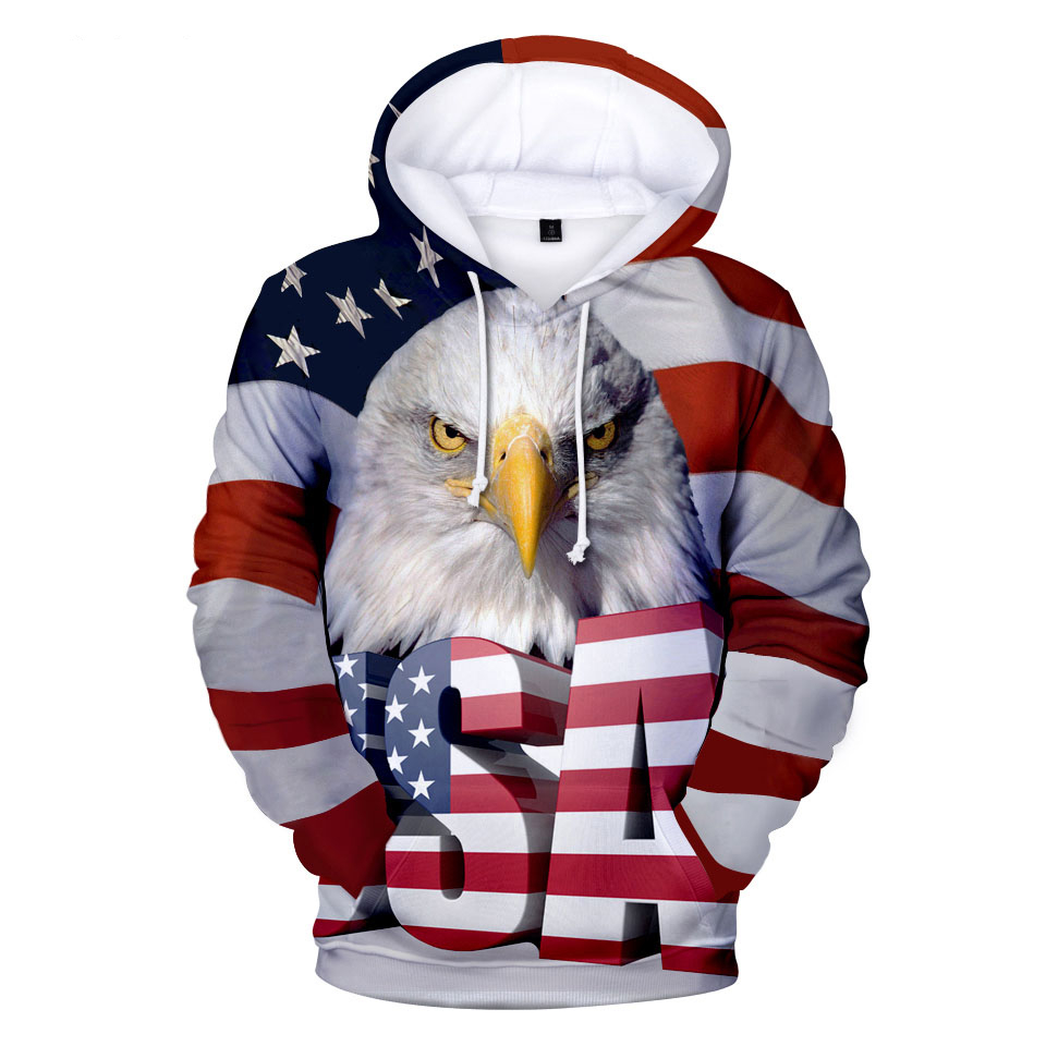 3D National Flag Hoodies Sweatshirt Men/Women Hoodie 3D Print Eagle Spring Winter Sweatshirts Polluver Oversize Jacket Tops sweatshirt