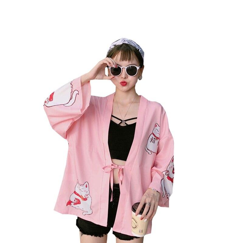 f6ab466bc Japanese outfits kimono cardigan women yukata female Chinese kimono  harajuku kawaii clothing blouse shirt haori obi