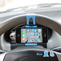 Car Steering Wheel Mobile Phone Holder Bracket for iPhone 4 5 6 Samsung Galaxy S4 S5 S6 Note 3 4 Smartphone GPS car phone holder