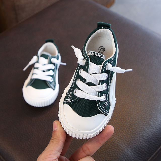 Autumn canvas 2018 new kids shoes 2-13 years old Non-slip super perfect girl boys school casual shoes  Super soft and comfortabl Girl's Shoes