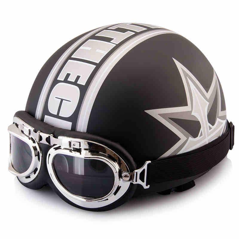 Summer Vintage Motorcycle Helmets Open Half Face Men Women Motorbike Helmet Moto Goggles Gifts For Harley