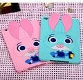 Cute Crazy animal City 3D Judi Rabbit Judy Cover For IPAD Mini 1 2 3 4 Soft Silicone Case For IPAD Mini 4 Cover Free shipping