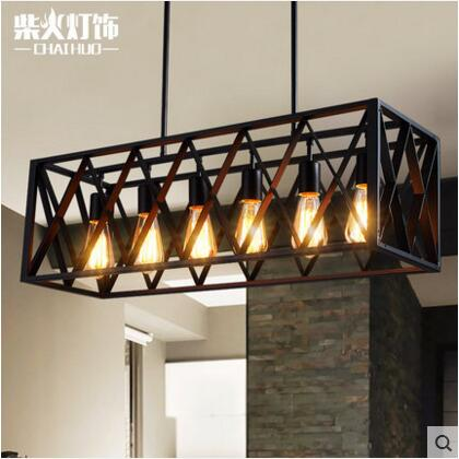 modern black birdcage pendant lights iron box retro light loft metal cage hanging lighting lamp