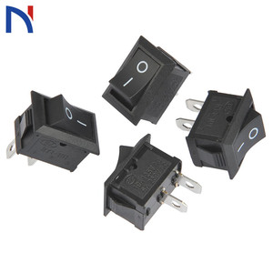 10/20 PCS Switch ON-OFF KCD1 15*21mm 2pin Ship Type Switch 6A 250V 10A 125V 15X21 Rocker Switch power switch black New(China)