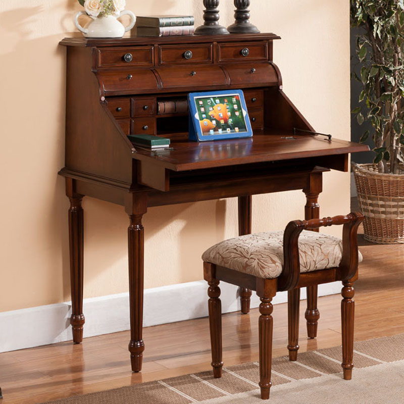 american continental desk folding computer solid wood bedroom dresser dressing table small. Black Bedroom Furniture Sets. Home Design Ideas
