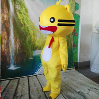 Advertising Cartoon Yellow Cat Mascot Costume Suits Cosplay Party Game Dress Outfit Clothing Advertising Carnival Halloween