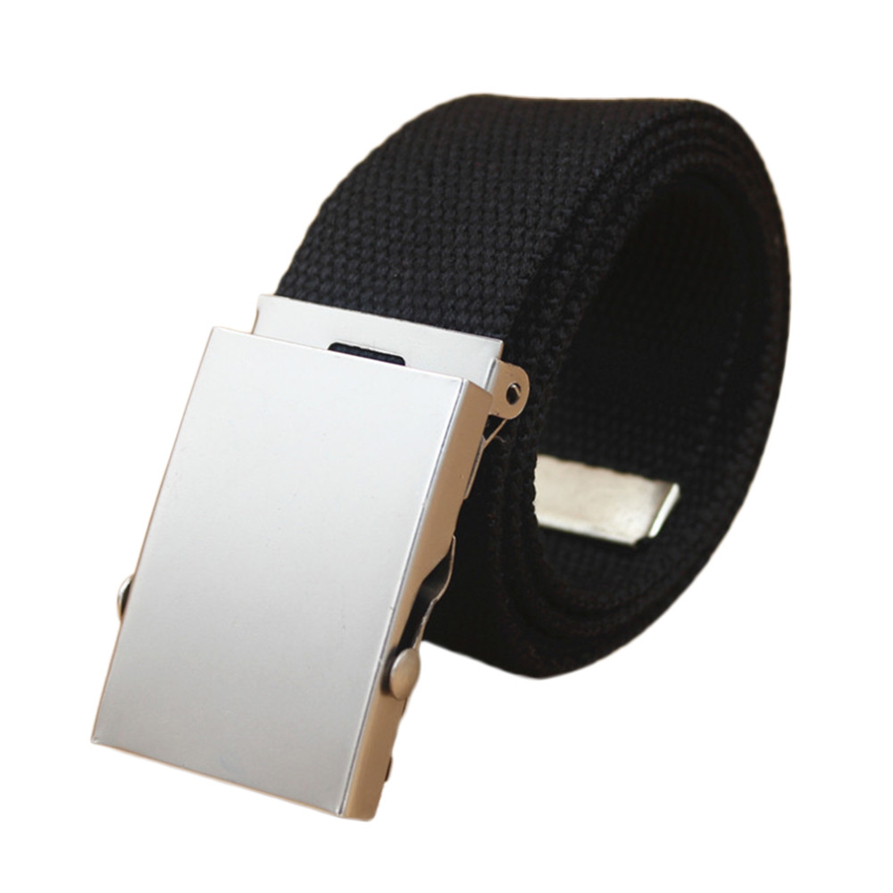 2018 New Arrival Design Exquisite Quality Luxury Practical Mens Military Canvas Webbing Waist   Belt   Metal Buckle 5 Colors hot