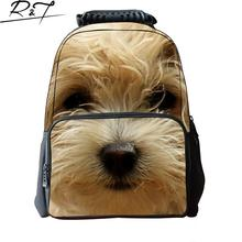 Fashion 2016 New Arrival 3D Printing Animals Backpacks High Quality 17 Inch Cute Dogs Eagl Felt School Bags For Teenagers