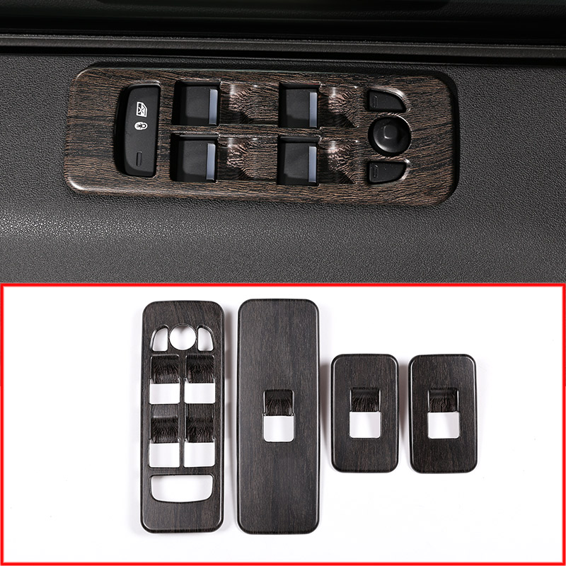 2018 Land Rover Discovery Interior: 4pcs Oak Wood Colour Window Lift Button Frame Trim For