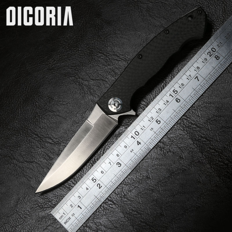 DICORIA Carbon fiber ZT 0999 Tactical Flipper folding knife S35VN blade Carbon fiber handle camping survival knives EDC tools цены
