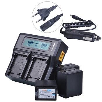 3x 4500mAh NP-FV100 NP FV100 NPFV100 FV100 Battery + LCD Rapid Charger for SONY NP-FV30 NP-FV50 NP-FV70 SX83E SX63E FDR-AX100E