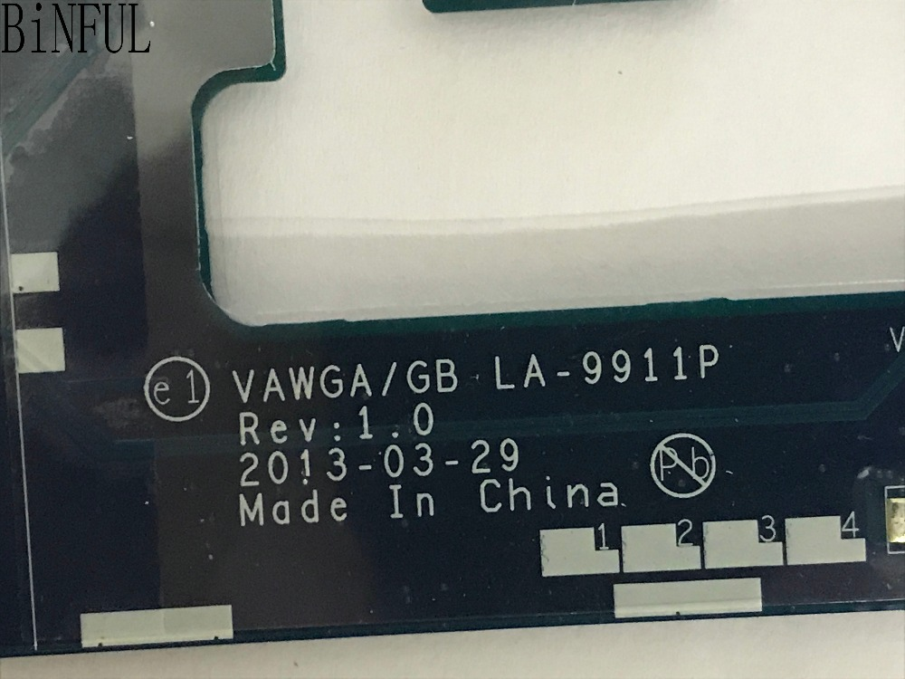BiNFUL 100 TESTED VAWGA GB LA 9911P LAPTOP MOTHERBOARD FOR LENOVO G505 NOTEBOOK BUILD IN VIDEO