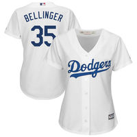 MLB Women S Los Angeles Dodgers Cody Bellinger Majestic White Cool Base Player Jersey