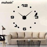 2019 Factory direct modern DIY design flying bird pattern quartz wall clock home decoration Orologio Muro Living room creative