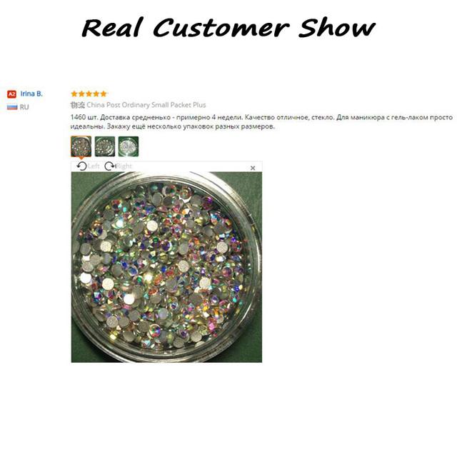 SS4 Crystal ab Nail Rhinestones,1440pcs/lot Flat Back Non Hotfix Glitter Nail Stones,DIY 3d Nail Phones Decorations Supplies