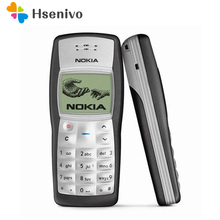 Дешевый оригинальный Nokia 1100 Мобильный телефон разблокирована GSM900/1800 мГц мобильный телефон с разные языки гарантия 1 год бесплатная доставка