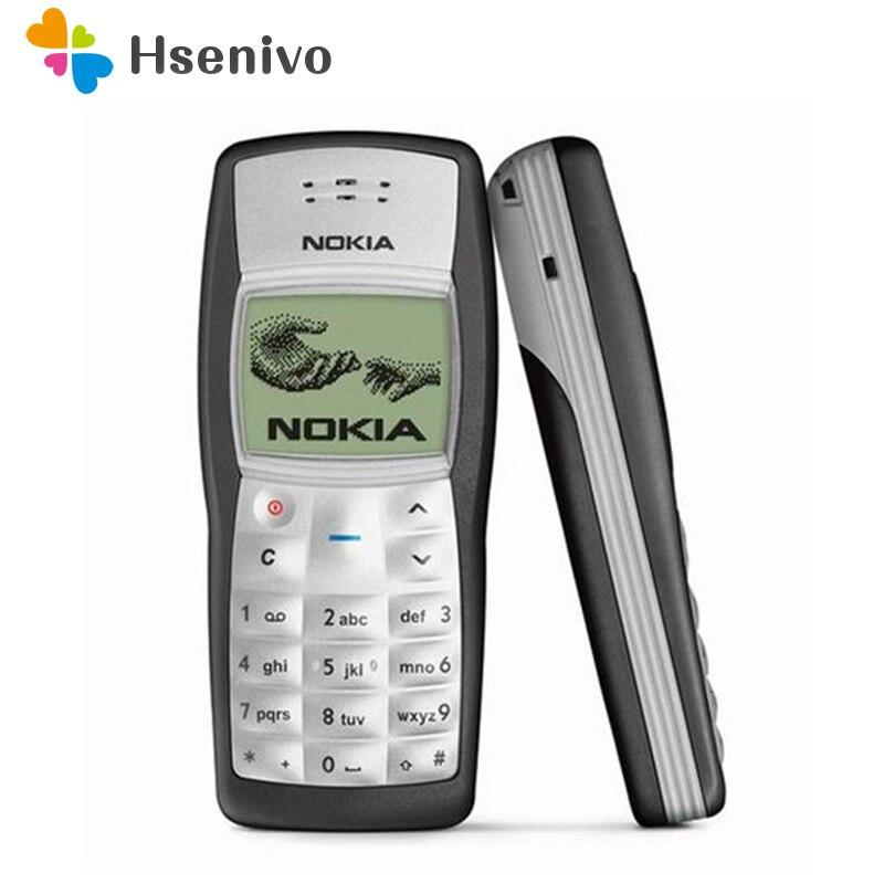 Mais barato Original Nokia 1100 Celular Desbloqueado GSM900/1800 mhz celular com múltiplas linguagens 1 Ano de Garantia recuperado