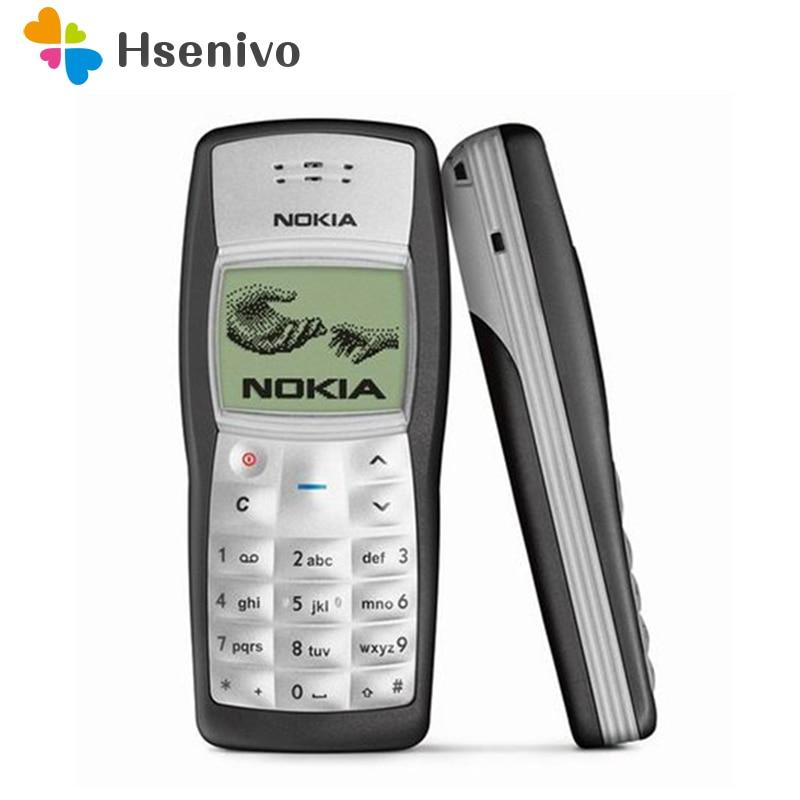 Mais barato original nokia 1100 celular desbloqueado gsm900/1800 mhz celular com multi idiomas garantia de 1 ano remodelado