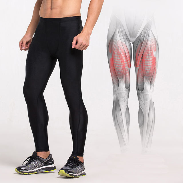 2ab3c2cef7f92 Men and Women Power Compression Long Tights Running Gym Fitness Sport Pants  Quick Dry Workout Legging