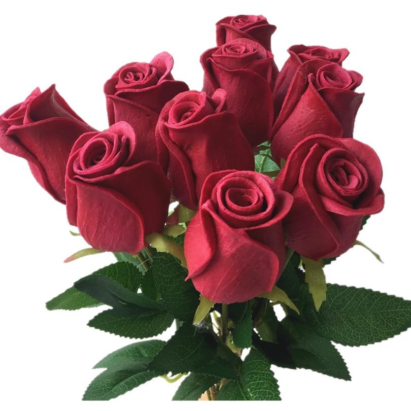 Rosas Real Touch Negro Rosa Azul Rosa Rojo Blanco Amarillo Púrpura - Para fiestas y celebraciones - foto 6