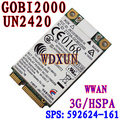 UN2420 3G Wwan Wireless Card Gobi2000 531993-001 HSPA/UMTS EDGE/GPRS/GSM EV-DO/CDMA