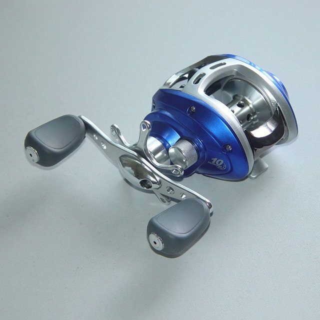 Free Shipping,New Arrival 2011 Latest Baitcasting Fishing Reel 10 BB, Left,Red/Blue