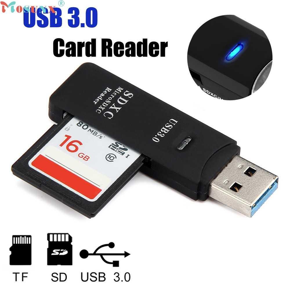 Mosunx سعر المصنع صغير 5Gbps سوبر سرعة USB 3.0 مايكرو SD/SDXC TF محوّل قارئ البطاقات ماك OS برو 0216 انخفاض الشحن