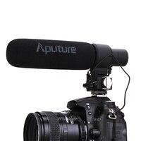 Aputure V MIC D2 Регулируемая чувствительность Направленная Конденсатор Shotgun видео микрофон для Nikon Canon Sony Pentax DSLR Камера