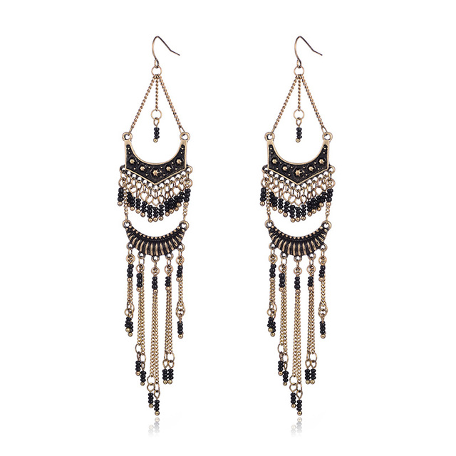 Long Big Earrings for women Indian Jewelry Women Accessories Ethnic Vintage Earrings  Brincos 2018 New 1ad9b70d45f6