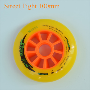 Image 3 - 스트리트 파이트 오렌지 110mm 100mm 90mm 인라인 스피드 스케이트 휠 mpc 아스팔트 그라운드 스트리트 레이싱 마라톤 대회 rodas