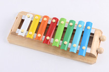 New wooden toy baby 8 sound knock piano music  educational Free shipping