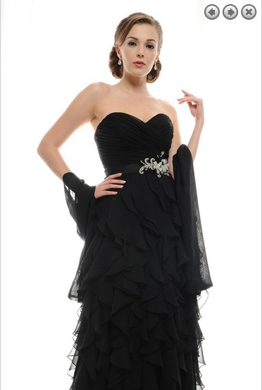 custom crystal sashes vestido de festa 2018 sexy ruffles black chiffon Formal evening gown elegant mother of the bride dresses in Mother of the Bride Dresses from Weddings Events