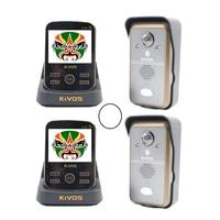 KIVOS KDB302A Wireless Intercom Video Door Bell Phone Home Security System 2 Camera 2 Monitor