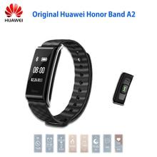 """Stokta Orijinal Huawei Onur A2 Akıllı Bileklik 0.96 """"OLED Ekran Nabız Nabız Gösterisi Mesaj IP67 Reddetme Çağrı"""