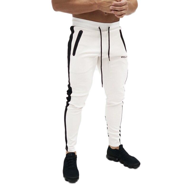 Men's Pants Autumn Side Zipper Pocket Jogger Trousers Bodybuilding Leisure Hip Hop Pants Men Slim Sweatpants