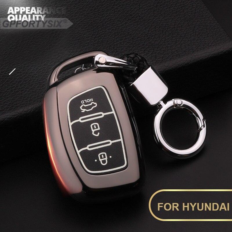 Luminous Zinc alloy Car key case cover for Hyundai i10 i20 i30 HB20 IX25 IX35 IX45 hb20 Santa Fe Creta Solaris 2 smart key shell