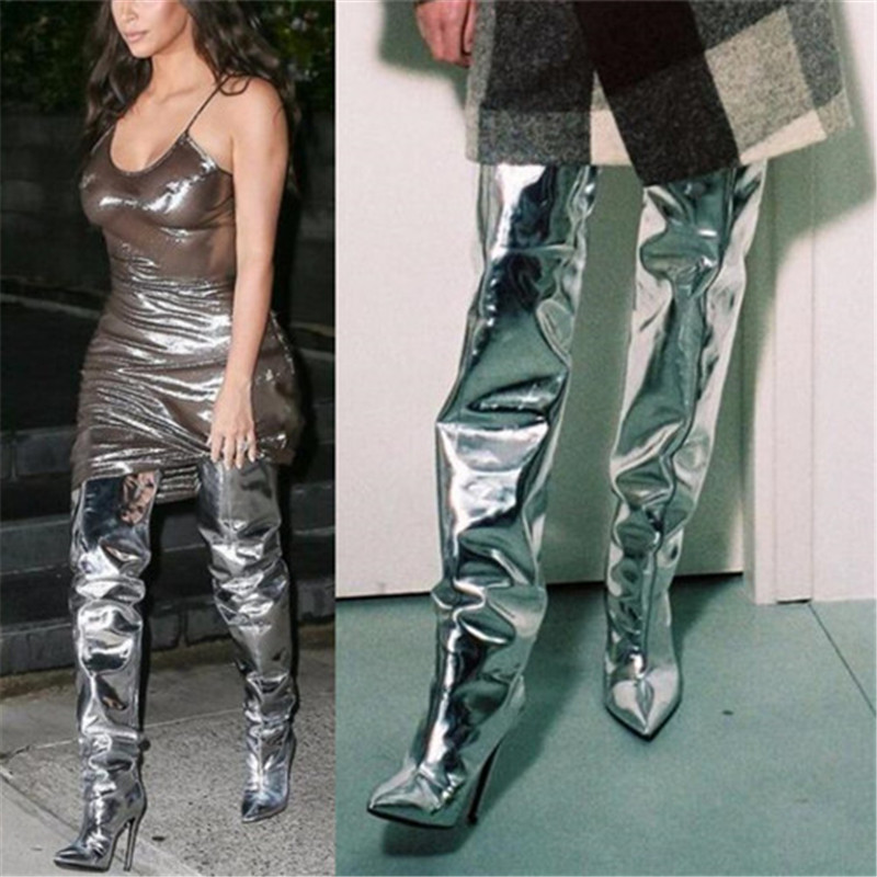 compare prices on silver metallic boots shopping