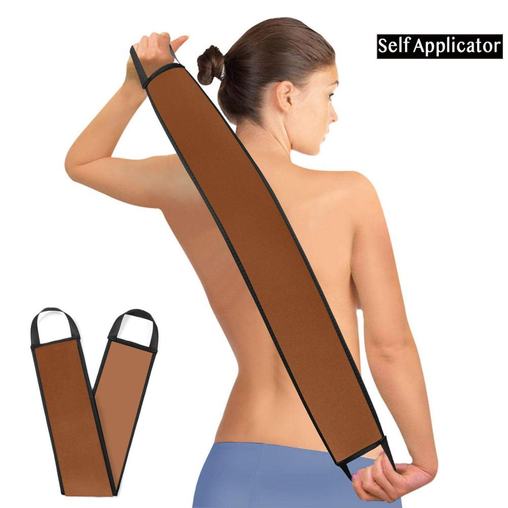 Brown Self Tanning Mitts Back Applicator Perfect For Tanning Lotions,Body Cream Mousses-hold Just Enough Product To Apply Evenly