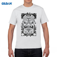 GILDAN Designer TIKI FACE Island Tropical Paradise Mens Cotton T Shirt Apparel Birthday T Shirts