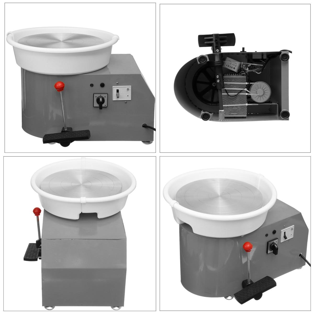 Tournant la Machine en céramique de roue de poterie électrique 110 V 350 W 300mm Kit de potier en céramique d'argile pour la céramique de travail en céramique - 5