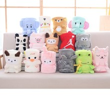 Cartoon Dragon Cat Childrens Blanket Baby Roll Cover Office Nap Coral Down Cute Animal