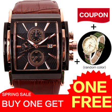 hot deal buy 2016 men's watches minimalist large dial fashion casual quartz watches ultra-thin rose gold clock black leather wrist watches