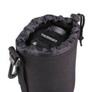 Image 4 - Capsaver 4 stks/partij Hoge Kwaliteit Neopreen Camera Lens Pouch Set Dikke Beschermende Zachte Zakjes Tas Case voor Canon Nikon Sony