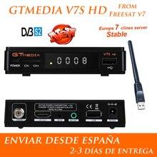 1 год Европа 7 Clines сервер GTMedia V7S HD цифровое спутниковое приемник DVB-S2 V7S Full HD 1080 P + USB WI-FI обновление Freesat V7