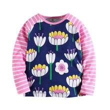 Bébé fleurs T-shirts Filles enfants marque bébé vêtements Tricoté t-shirt  fille de mode T-shirts 3-12 ans Automne printemps enfa. 3cf4f53e23c