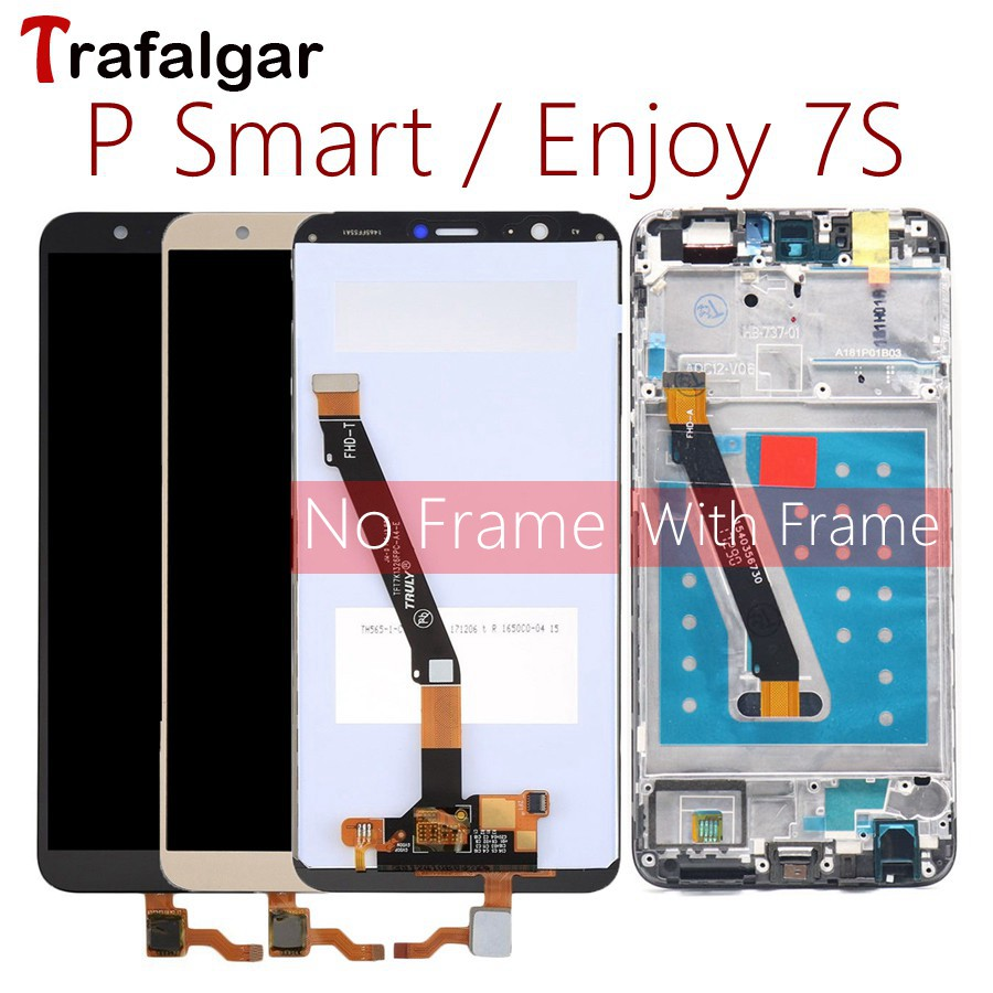 For Huawei P Smart LCD Display Touch Screen Digitizer Assembly For Huawei P Smart LCD With Frame FIG LX1 L21 L22 Screen Replace(China)