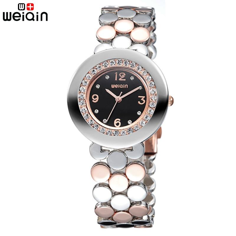 2017 New WEIQIN Brand Women Watches Luxury Crystal Diamond Ladies Bracelet Watch Relojes Mujer 2017 Quartz