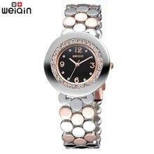 2017 Nueva WEIQIN Mujeres de la Marca de Relojes de Cristal de Diamante de Lujo de Las Señoras Reloj Pulsera Relojes Mujer 2017 Relojes de Cuarzo #4084