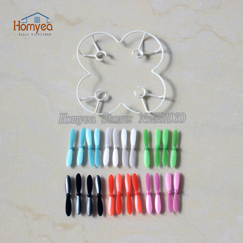 drone part 24pcs Main propeller blades + 1pcs blades Protect Cover for FQ777 FQ777-124 Mini Quadcopter RC Helicopter Spare parts