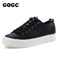GOGC Women Sneakers Fashion Leather Casual Shoes Women Moccasins Breathable Women S Sneakers Flat Platforms Shoes